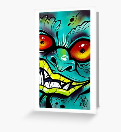 Graffiti Gremlin Greeting Card