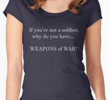 WEAPONS OF WAR (white) Women's Fitted Scoop T-Shirt