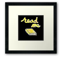 Read Me in Yellow Framed Print