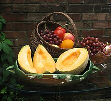 Antique Basket of Fruit by VivianRay