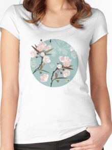 Cherry Blossoms Women's Fitted Scoop T-Shirt