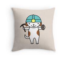 Cute Geologist Puppy Dog Throw Pillow
