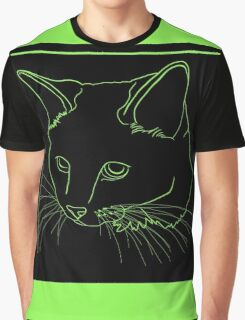 Cat Line - See Through Graphic T-Shirt