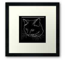 Cat Line - See Through Framed Print
