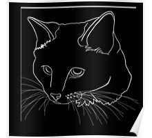 Cat Line - See Through Poster