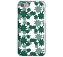 Floral pattern Japanese Origami Style Green iPhone Case/Skin