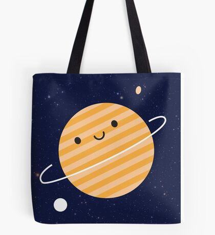 Happy Planet in Space Tote Bag
