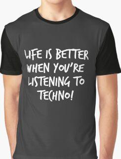 TECHNO SLOGAN FUNNY LOGO Graphic T-Shirt