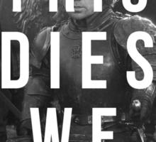 If Tyrion dies we riot Sticker
