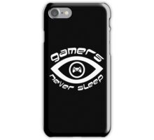 gamers never sleep white edition iPhone Case/Skin