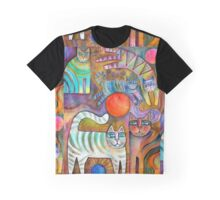 Klimt Cats Graphic T-Shirt