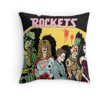 Love and Rockets hero's and villians Throw Pillow
