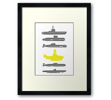 Know Your Submarines Framed Print