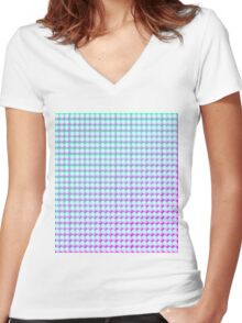 Colourful Pop Pattern Design Women's Fitted V-Neck T-Shirt
