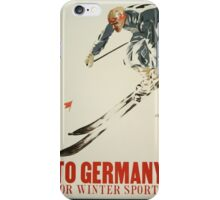 To Germany for Winter Sports iPhone Case/Skin