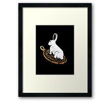 Follow the White Rabbit Framed Print