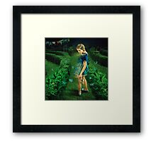 Green Labyrinth # 3 Framed Print
