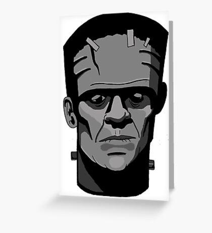 Boris Karloff inspired Frankenstein's Monster Greeting Card