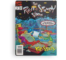 Ren and Stimpy boxing comic Metal Print