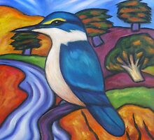 Little Kingfisher At Oruru by Dianne Connolly