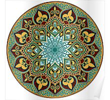 floral ethnic mandala Poster
