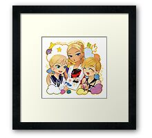 miraculous ladybug blonde & blue eyes Framed Print