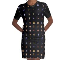 Zelda - The Items Without Text Graphic T-Shirt Dress