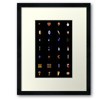 Zelda - The Items Without Text Framed Print