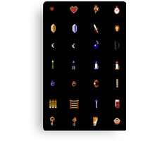 Zelda - The Items Without Text Canvas Print