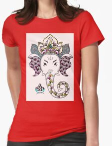 Ganesh the Elephant Womens Fitted T-Shirt