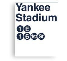 Yankee Stadium Subway Sign w Canvas Print