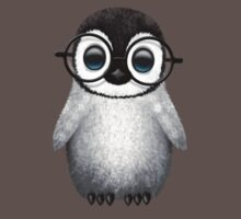 Cute Baby Penguin Wearing Eye Glasses  Kids Clothes