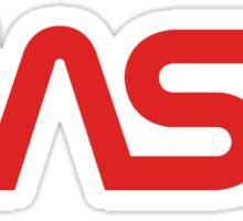 NASA Worm Logo Sticker