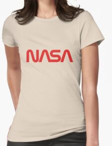 NASA Worm Logo Womens Fitted T-Shirt