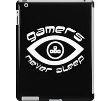 gamers never sleep wasd white edition iPad Case/Skin