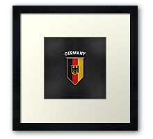 Germany Pennant with leather style background Framed Print