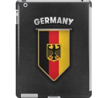 Germany Pennant with leather style background iPad Case/Skin