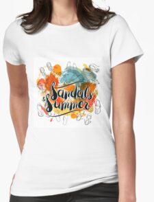 Sandals and Summer Womens Fitted T-Shirt