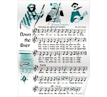 Down the River, Ohio River Chantey Poster