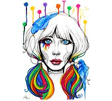 Zooey - Twisted Celebrity Watercolor Photographic Print