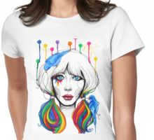 Zooey - Twisted Celebrity Watercolor Womens Fitted T-Shirt