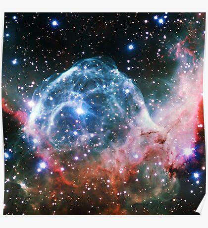 Thor's Head Nebula [Blue Red]   Infinity Symbol   Fresh Universe Poster