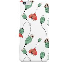 Poppy capsules iPhone Case/Skin