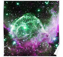 Thor's Head Nebula [Green Purple] | Infinity Symbol | Fresh Universe Poster