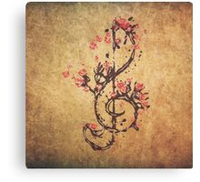 Cherry Clef Canvas Print