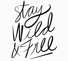 Stay Wild & Free Womens Fitted T-Shirt
