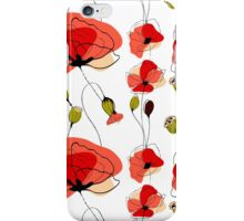 Red Poppy field iPhone Case/Skin