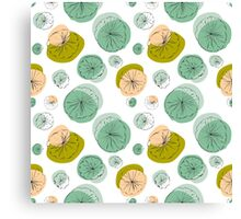 Light green lily pads Canvas Print