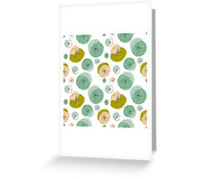Light green lily pads Greeting Card