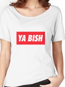 Ya Bish Typography Women's Relaxed Fit T-Shirt